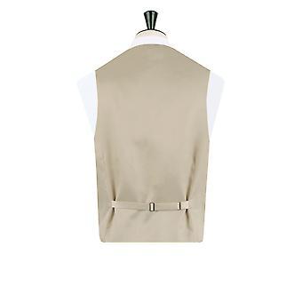 Dobell Mens Gold Paisley Waistcoat Regular Fit 5 Button Hochzeit