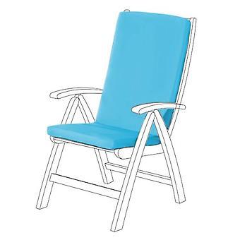 Gardenista® almohadilla de asiento HIGHBACK resistente al agua turquesa para silla de jardín, paquete de 4