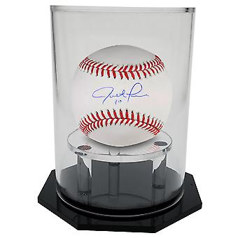 OnDisplay Deluxe UV-Protected Baseball/Tennis/Softball Display Case - Round Black Base