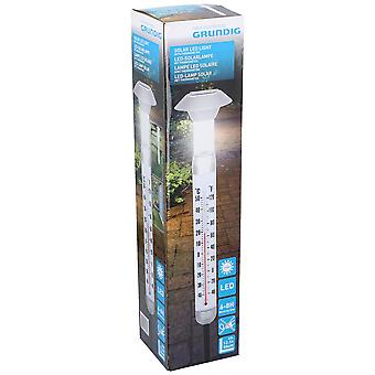 Grundig Plastic Solar LED Garden Light with Outdoor Thermometer 12.5x97cm