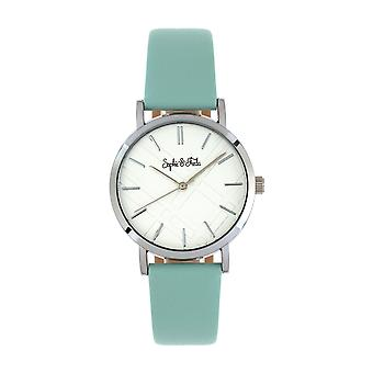 Sophie and Freda Budapest Leather-Band Watch - Teal