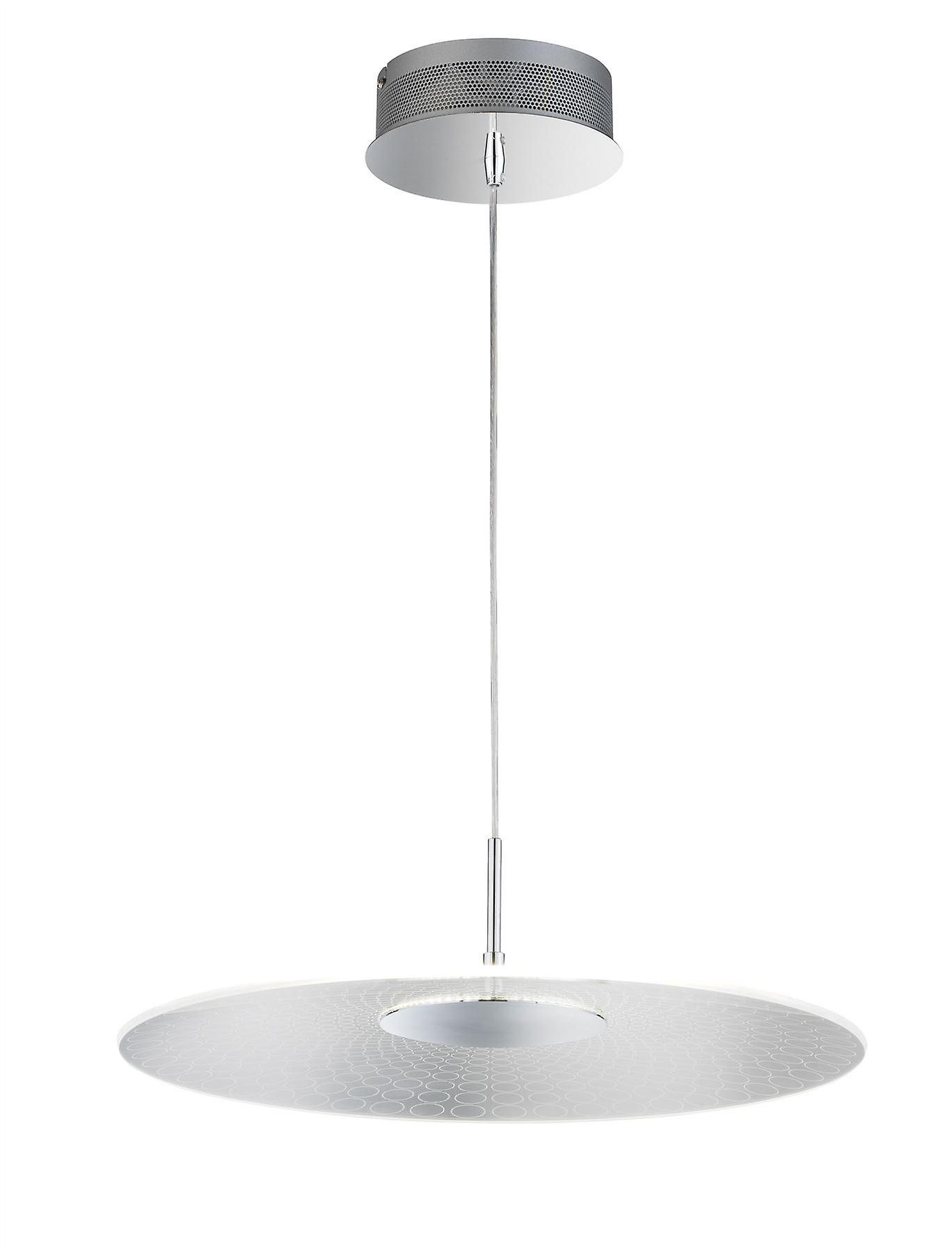 Wofi Coco - LED 1 Light Pendant Light Chrome - 6405.01.01.7000