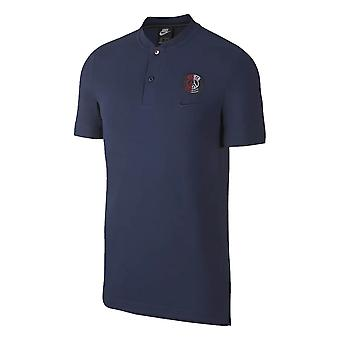 2019-2020 PSG Nike Authentic Grand Slam Polo Shirt (Navy)