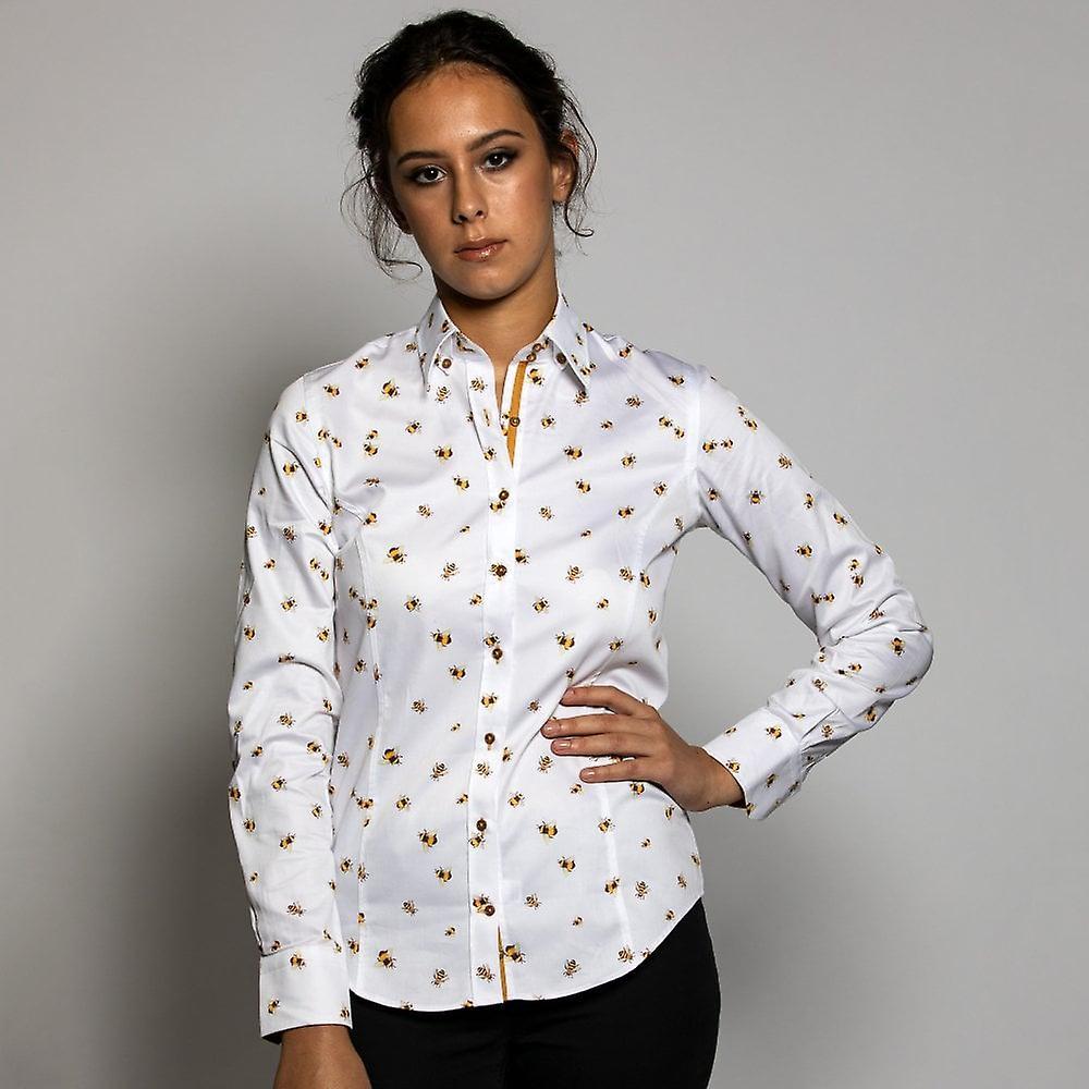 Chemise d&impression de bourdons de femmes de Claudio Lugli