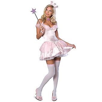 Glinda Good Witch of the South The Wizard Of Oz Pink Sexy Women Costume XS