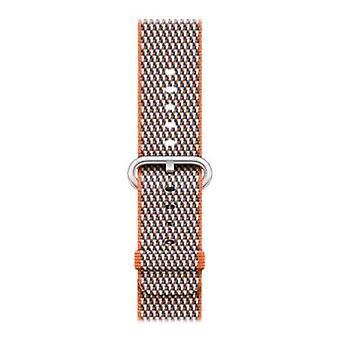 Apple 42mm check spicy orange strap