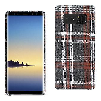 Reiko Samsung Galaxy Note 8 Checked Fabric In Brown