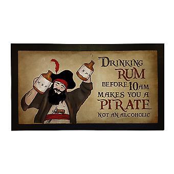 Printed Bar Runner Rum Pirate Rubber Bar Mat Mens Gift Idea