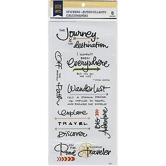 Little Yellow Bicycle Vellum Stickers-Travel 22447