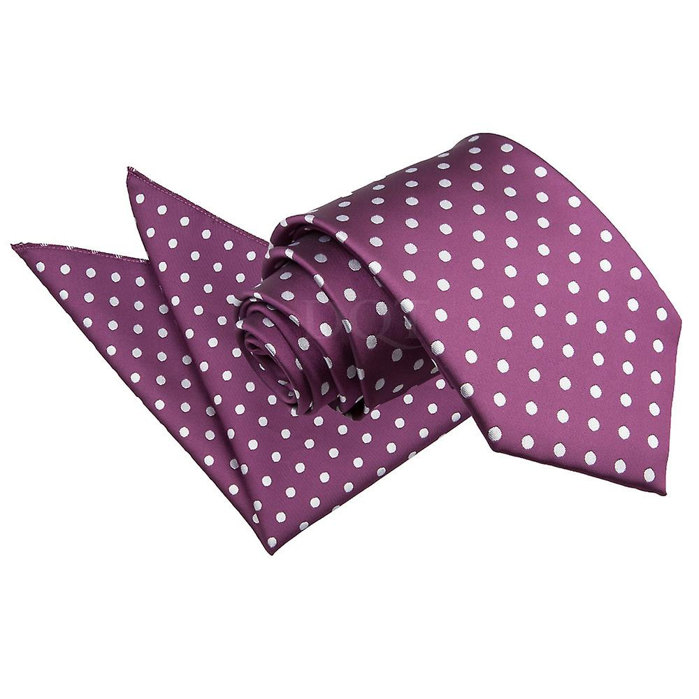 Polka Dot Purple Tie 2 pc. Set