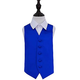Boy es Royal Blue Plain Satin Hochzeit Weste
