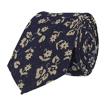 Mr. icone narrow tie Club tie Navy Blue floral