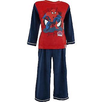 Ragazzi Marvel Spiderman velluto manica lunga pigiama con i calzini | Nella finestra di