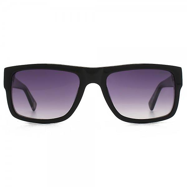 Hook LDN Blitz Sunglasses In Black On Clear