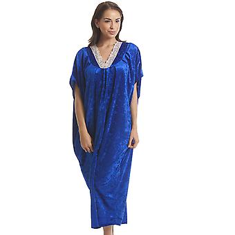 Camille Luxury Velour Royal Blue Kaftan