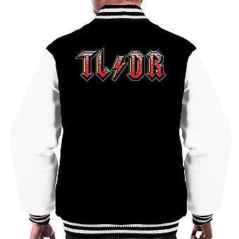 Too Long Didnt Read ACDC Logo Men's Varsity Jacket