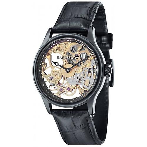 Thomas Earnshaw The Bauer Mechanical Skeleton Watch - Black/Black