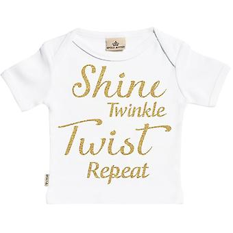 Spoilt Rotten Shine Twinkle Twist Repeat Short Sleeve Baby T-Shirt