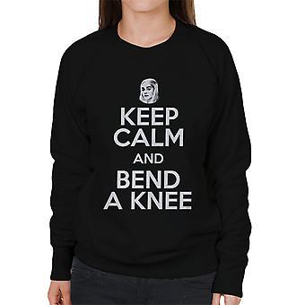Game Of Thrones Keep Calm Bend Knee Women's Sweatshirt