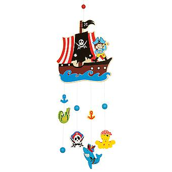 Bigjigs Toys Wooden Pirate Mobile - Cot and Nursery Accessories
