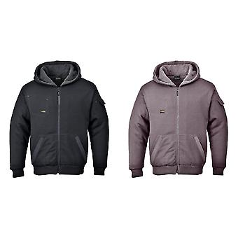 Portwest Mens Pewter Jacket (With Sherpa Pile Lining)