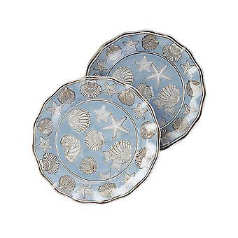 14 1/4 Zoll Durchmesser Seashell Design Runde Platte