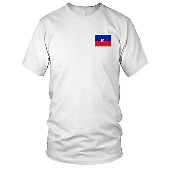 Haiti Country National Flag - Embroidered Logo - 100% Cotton T-Shirt Kids T Shirt