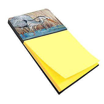 Carolines Treasures  JMK1013SN Blue Heron in the reeds Sticky Note Holder