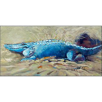 Bruce the Gator Alligator Indoor or Outdoor Runner Mat 28x58