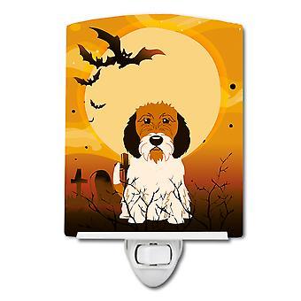 Halloween Petit Basset Griffon Veenden Ceramic Night Light