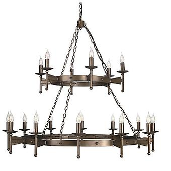 CW18 Cromwell 18 Light Wrought Iron Chandelier