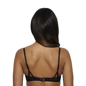 Gossard 13901- Women's Venus Black Lace Padded Underwired Deep Plunge Plunge Bra
