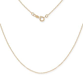 14k Yellow Gold Rope Chain Pendant Necklace - 15 Inch
