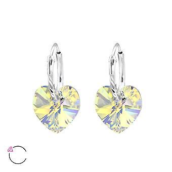 Heart Crystal From Swarovski® - 925 Sterling Silver Earrings - W28640x