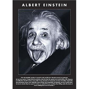 Albert Einstein - Tongue Quote Poster Poster Print