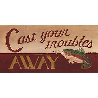 Cast Your Troubles Away Poster Print by Becca Barton (20 x 10)