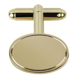 Orton West Plated Oval Cufflinks - Gold