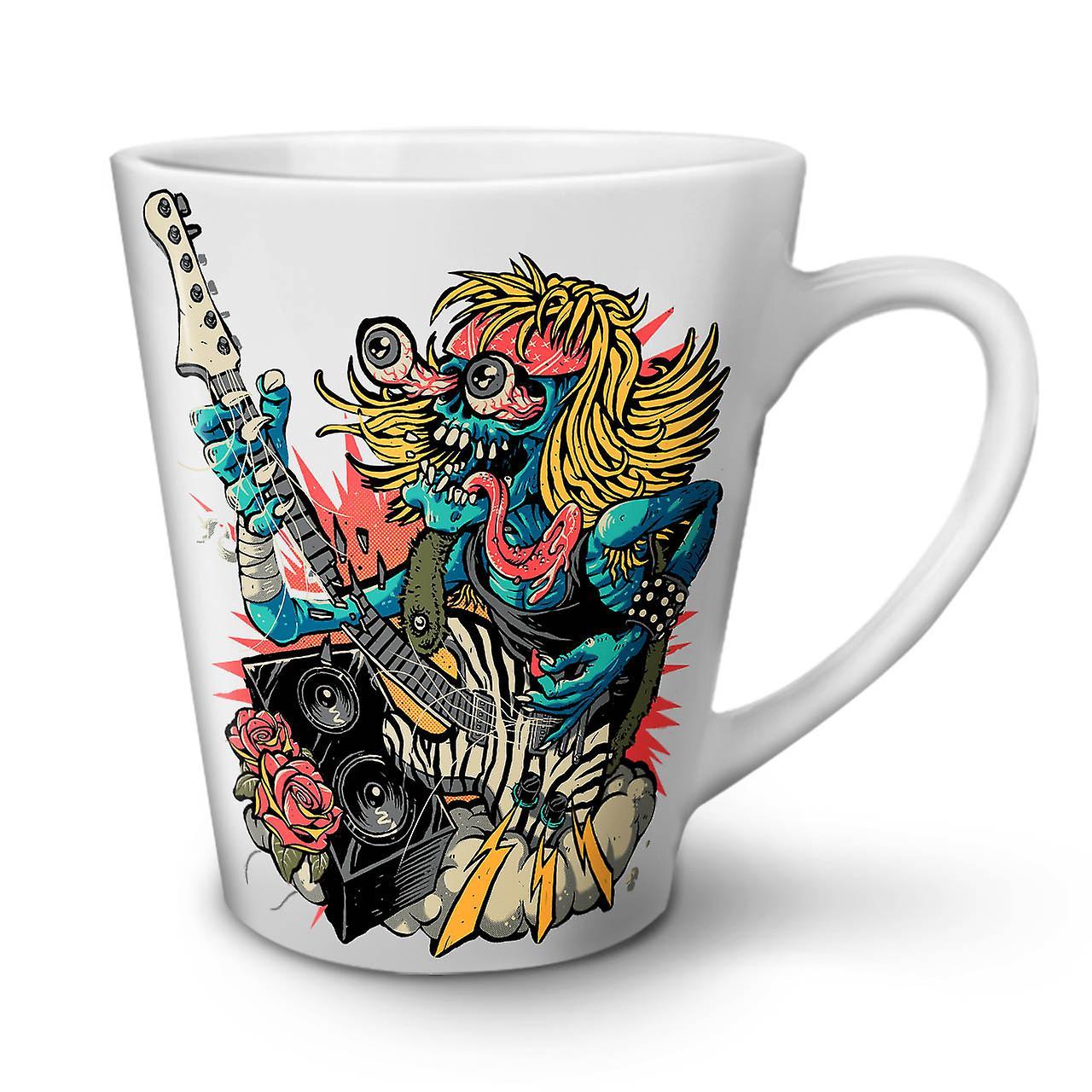 Céramique Musique Band Guitare Mug En Rock 12 OzWellcoda Nouveau Blanc Thé Latte Café QBtdrhxCs