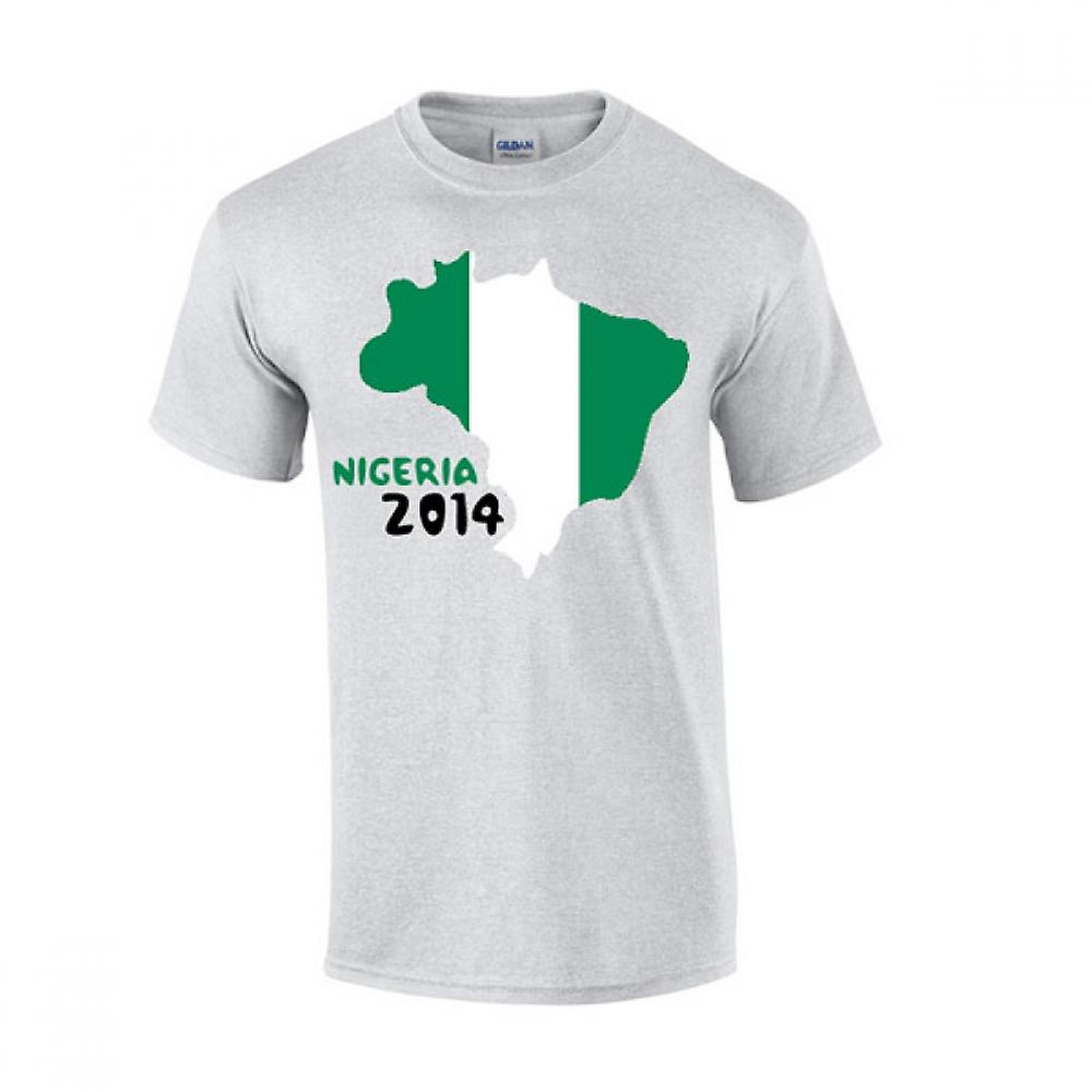 Nigeria 2014 Country Flag T-shirt (grau)