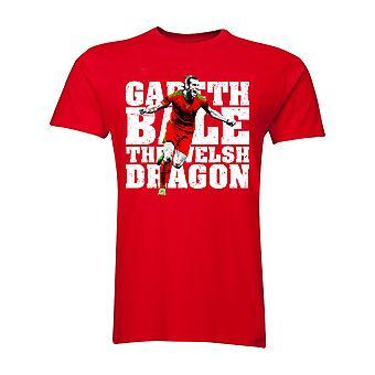 Gareth Bale The Welsh Dragon T-Shirt (Red)