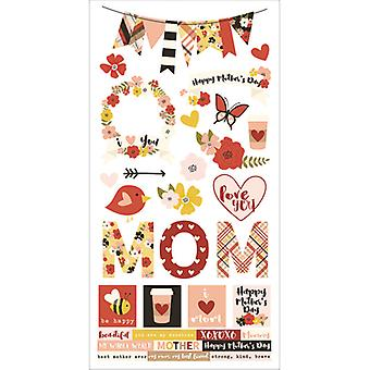 Simple Sets Mother's Day Cardstock Stickers 6