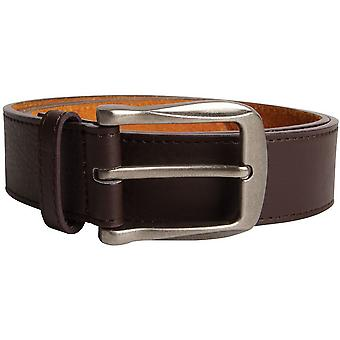 Duke Mens Harrison Large Buckle Leather Belt