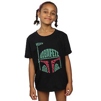 Star Wars Girls Boba Fett Text Head T-Shirt