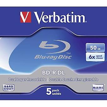 Blank Blu-ray BD-R DL 50 GB Verbatim 43748 5 pc(s)