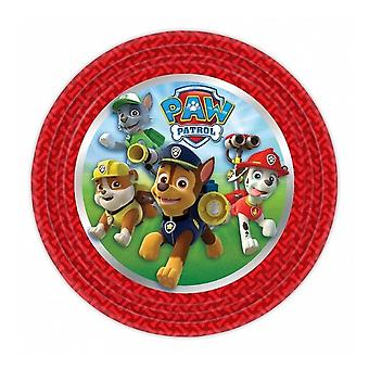 Paw Patrol paper plates 8 pack
