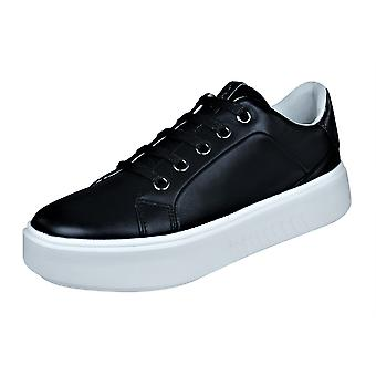 Womens Geox Trainers D Nhenbus A Nappa Leather Casual Shoes - Black
