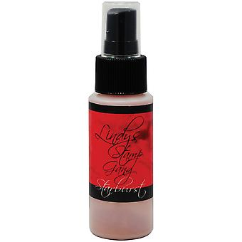 Timbre Gang Starburst Spray 2Oz bouteille Poinsettia de Lindy rouge or Sbs 77