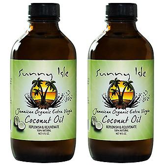 Sunny Isle Jamaican Extra Virgin Coconut Oil 4oz (2 Pack) by Sunny Isle