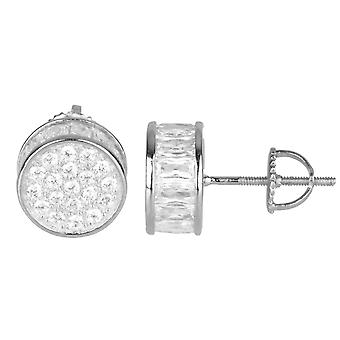 925 Sterling MICRO PAVE earrings - round 10 mm
