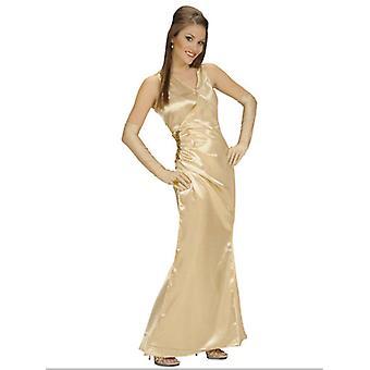 Satin kjendis gull (kjole hansker)